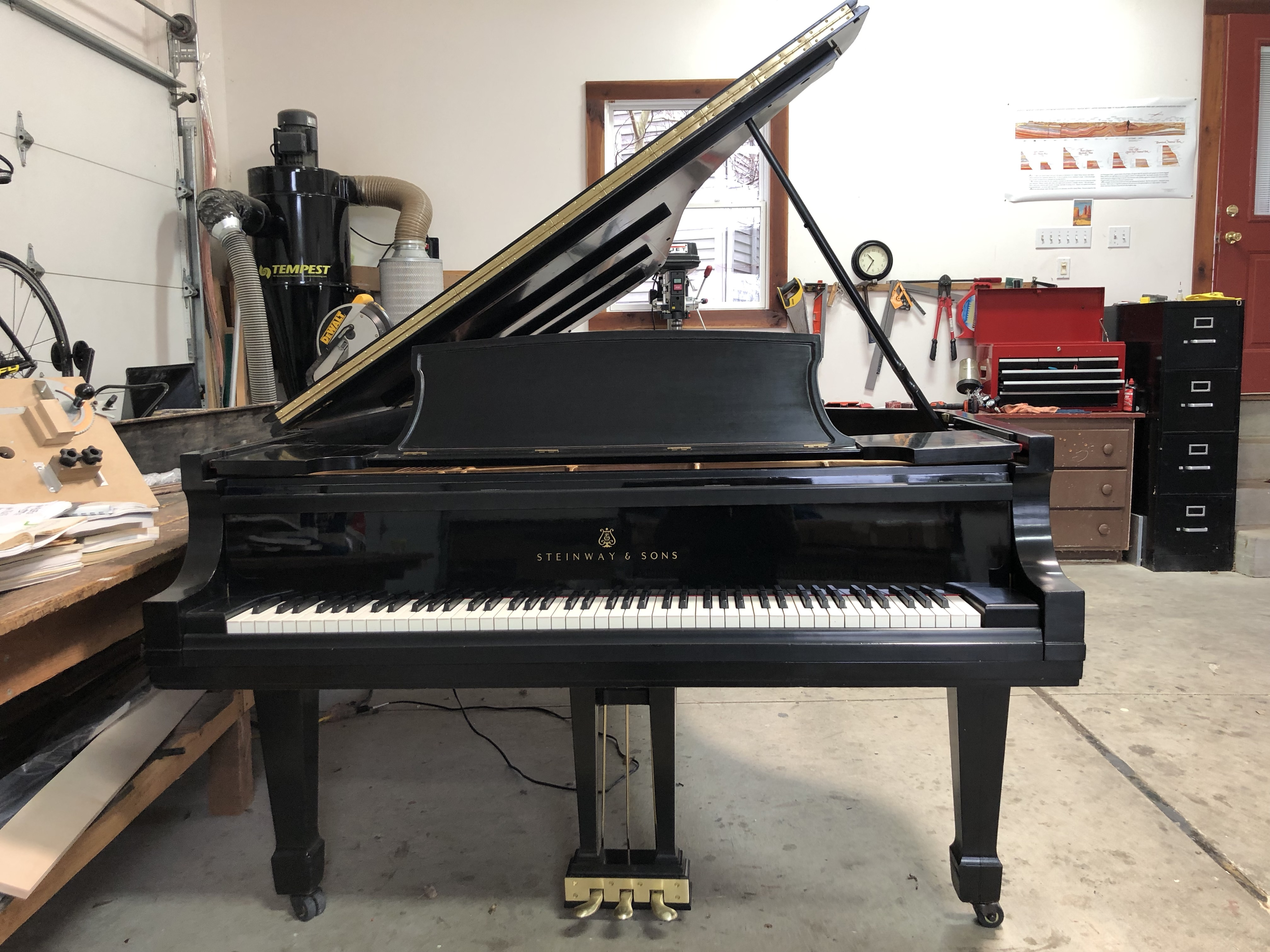 Steinway D piano for sale by Hartzler Pianos