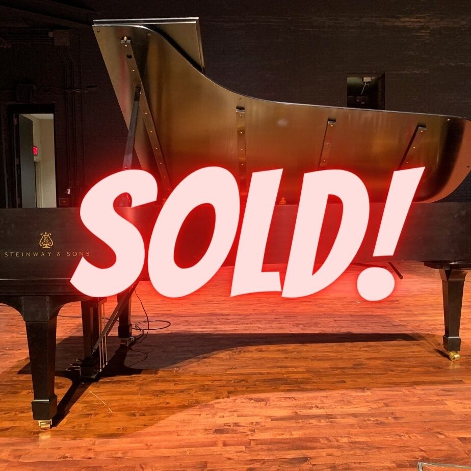 Sold Steinway D grand piano